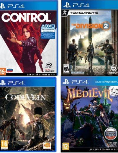 Игры для PS4 в Гродно: Control, division 2, CodeVein, MediEvil