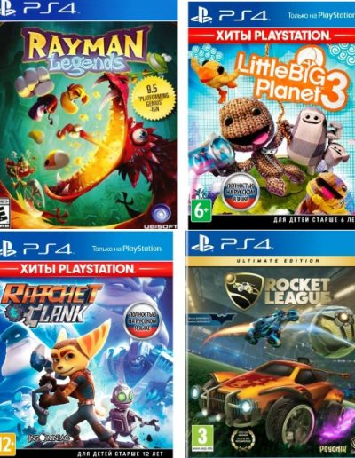 Игры PS4: Rayman Legends, LittleBigPlanet 3, Ratchet & Clank,